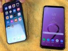 samsung galaxy s9 rezistenta iphone x apa