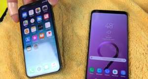 samsung galaxy s9 rezistenta iphone x apa