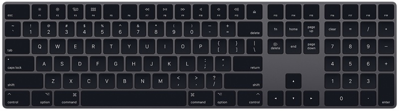tastatura apple space grey