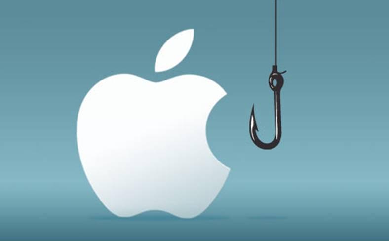 Apple raporteaza phishing