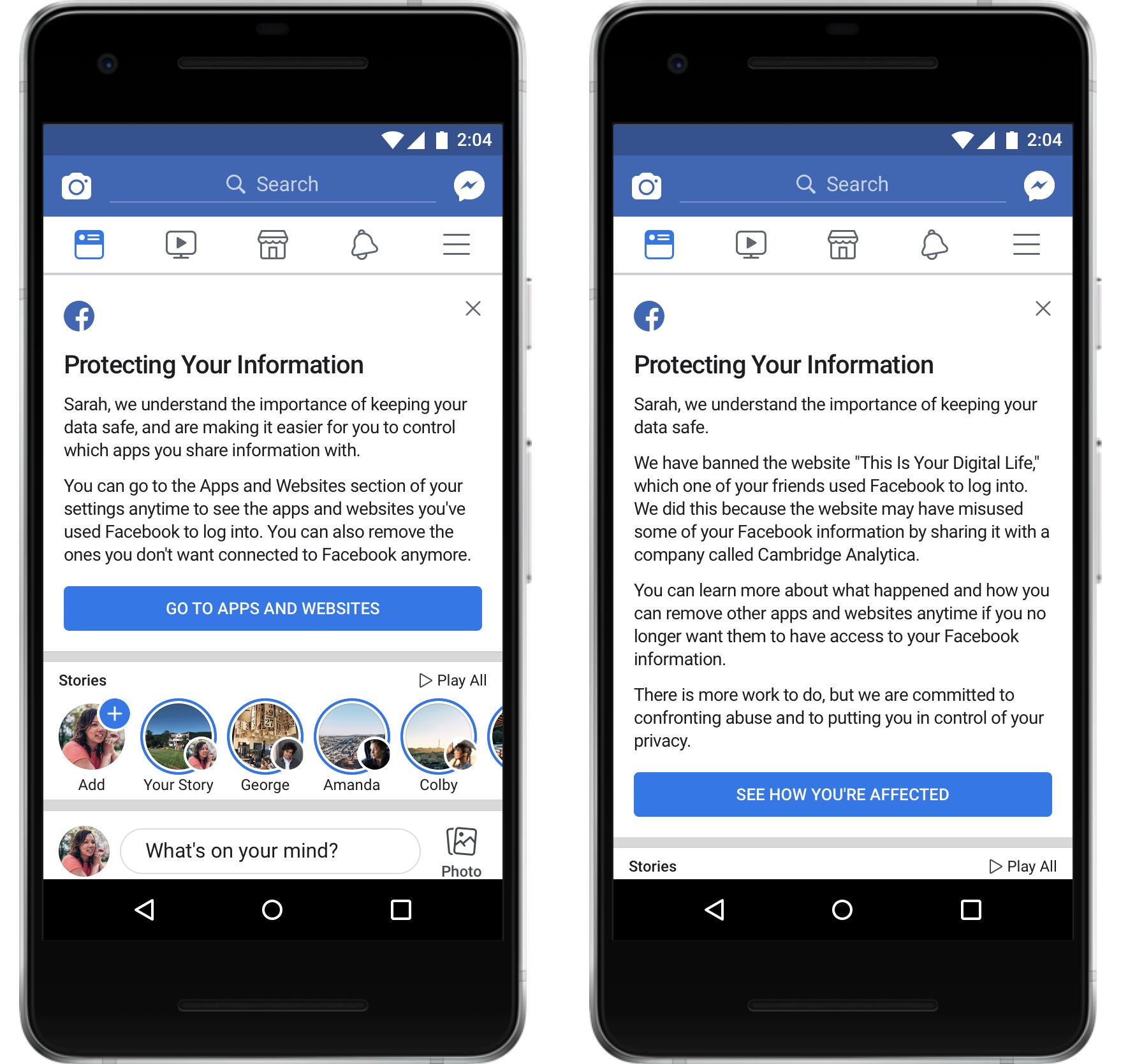 Facebook anunt accesare informatii cambridge analytica