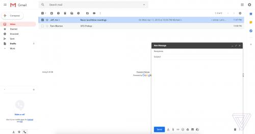 GMail design nou Google 3