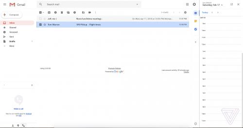 GMail design nou Google 7