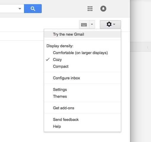Gmail activeaza interfata