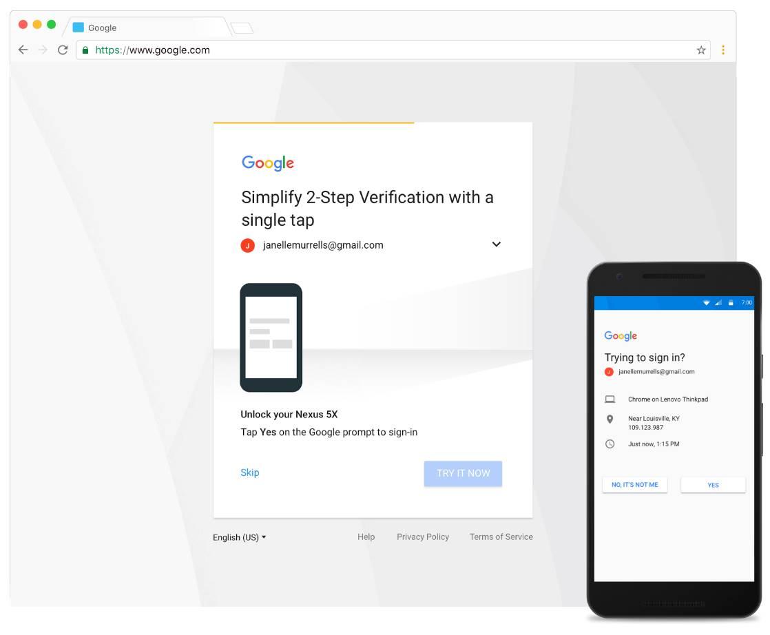 Google Gmail autentificare 2 pasi