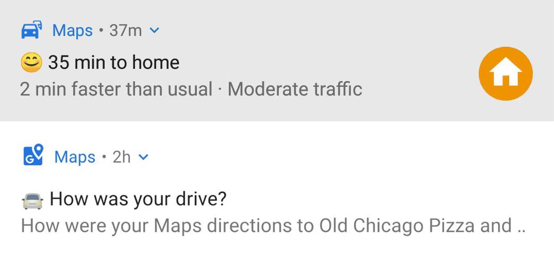 Google Maps alerte emoji
