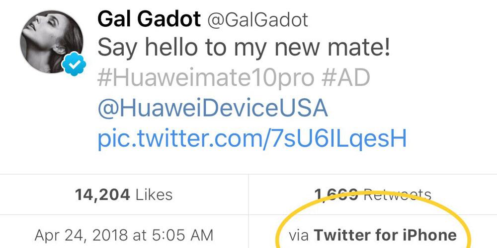 Wonder Woman Gal Gadot Huawei Mate 10 iPhone