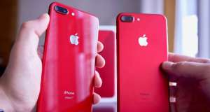 iPhone 8 rosu iPhone 7 rosu Comparatia Culorilor