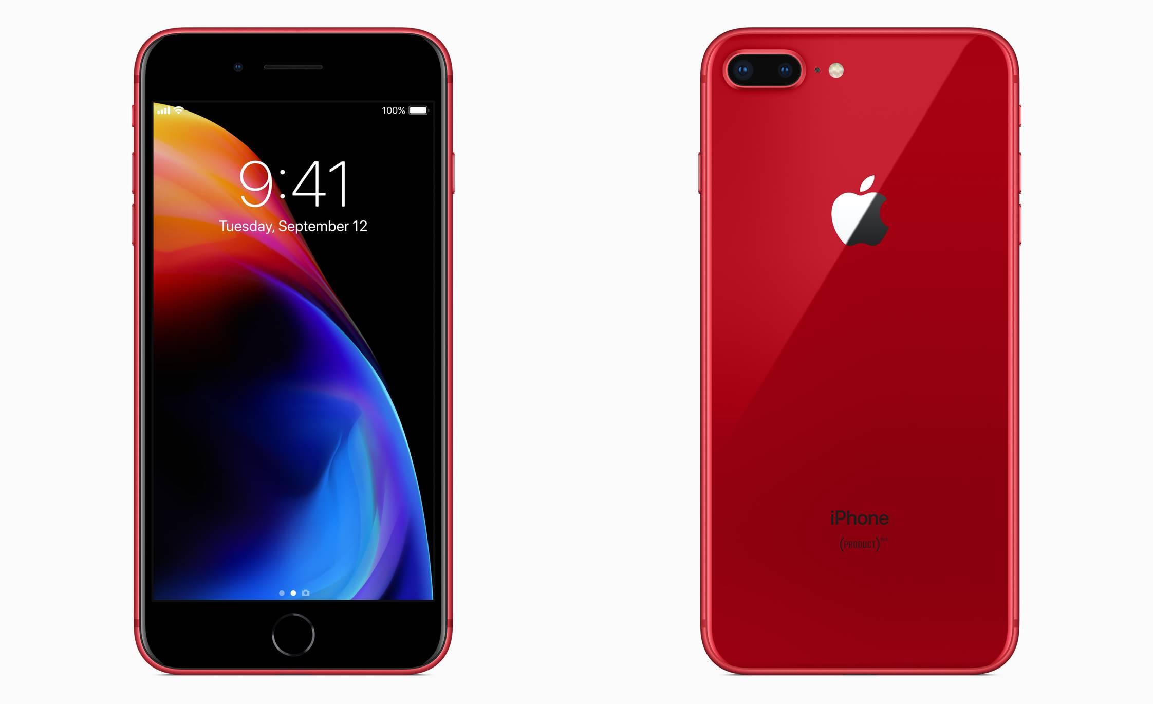 iPhone 8 rosu panou negru 1