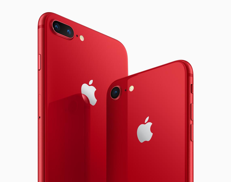 iPhone 8 rosu panou negru 2