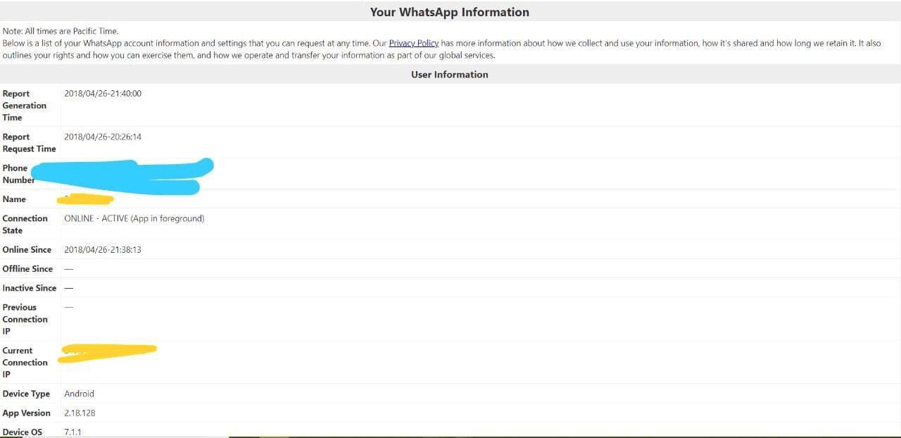 whatsapp cerere date utilizator 3