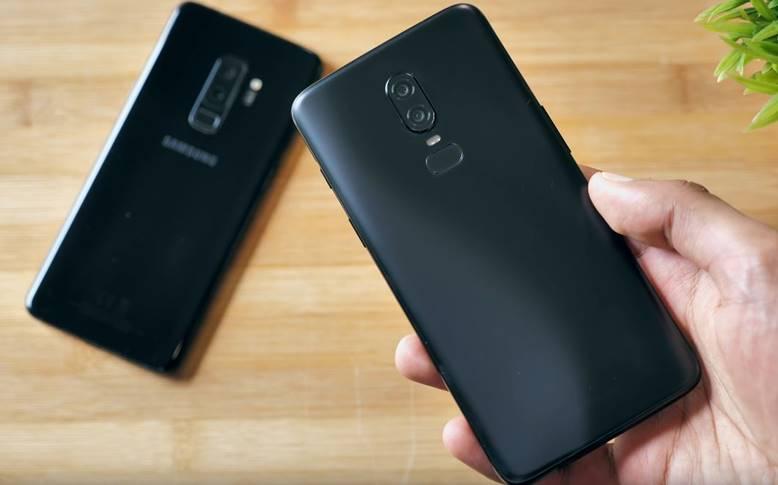 OnePlus 6 Samsung Galaxy S9 Plus Comparatie