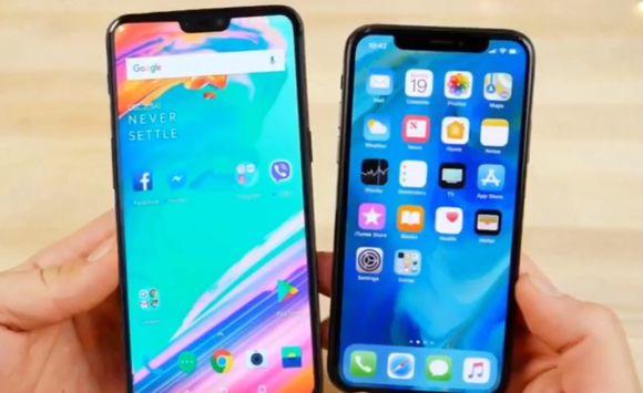 OnePlus 6 comparatie iPhone X