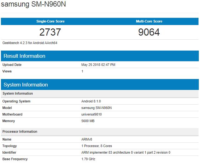 Samsung Galaxy Note 9 Vestea uriasa Fani 1