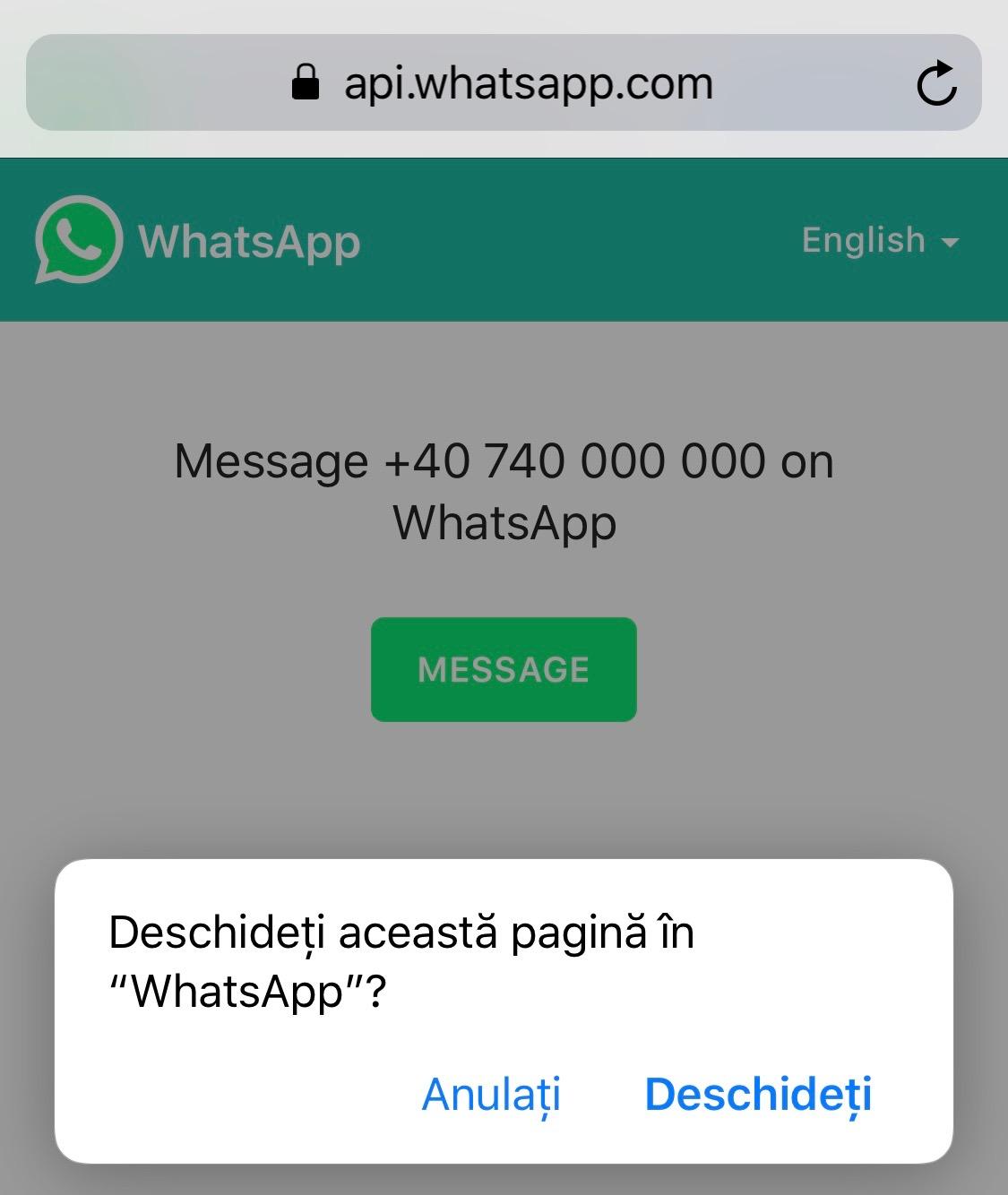 WhatsApp Mesaje Persoane NECUNOSCUTE 1