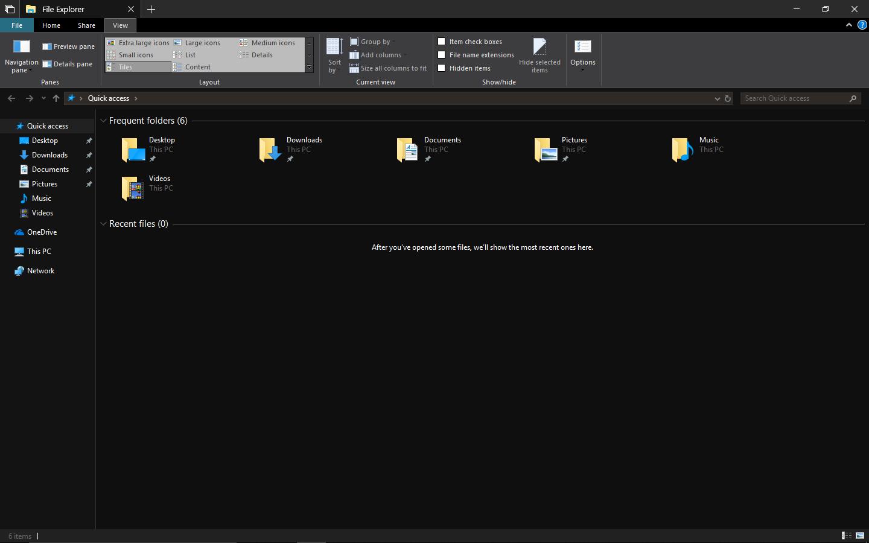 Windows 10 DARK MODE Microsoft 1