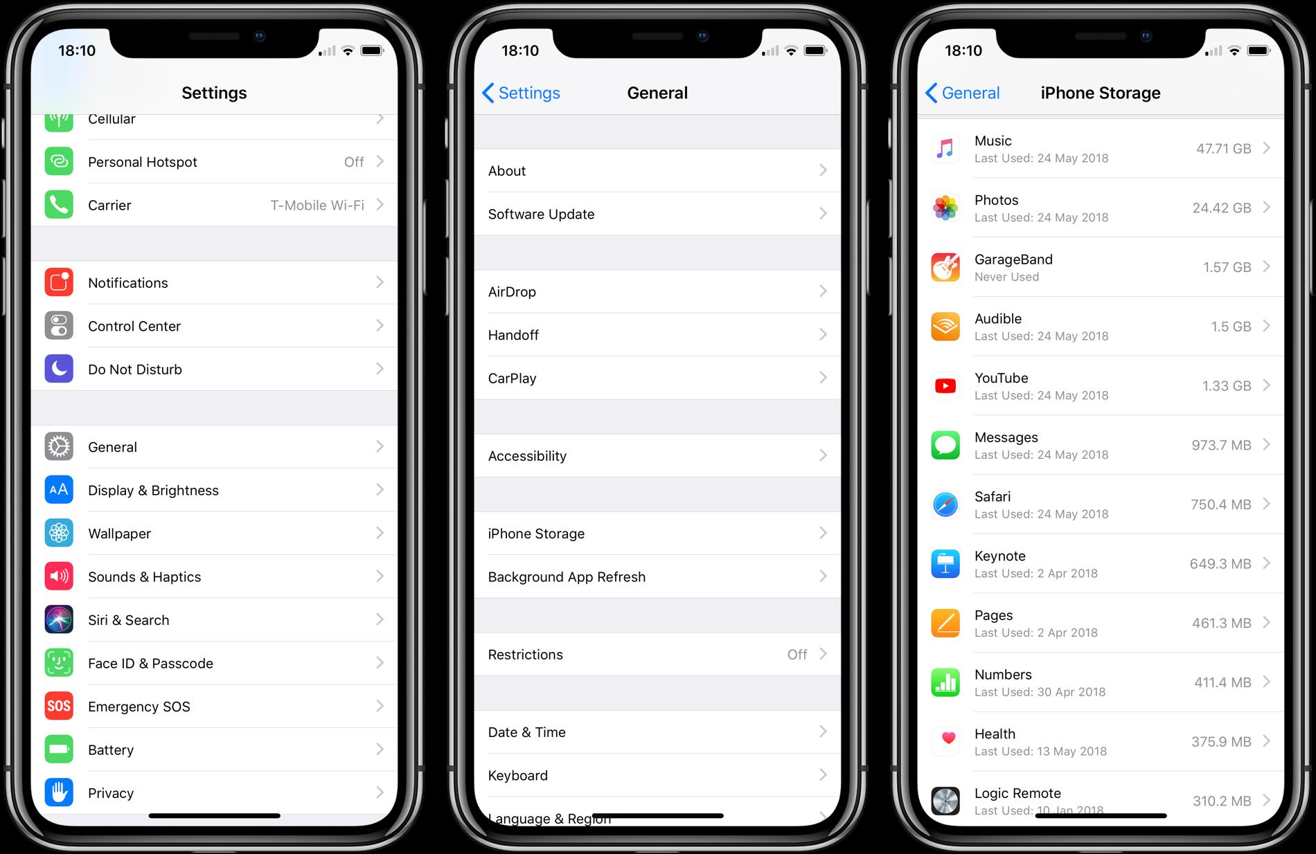 iPhone folosit aplicatie ultima oara