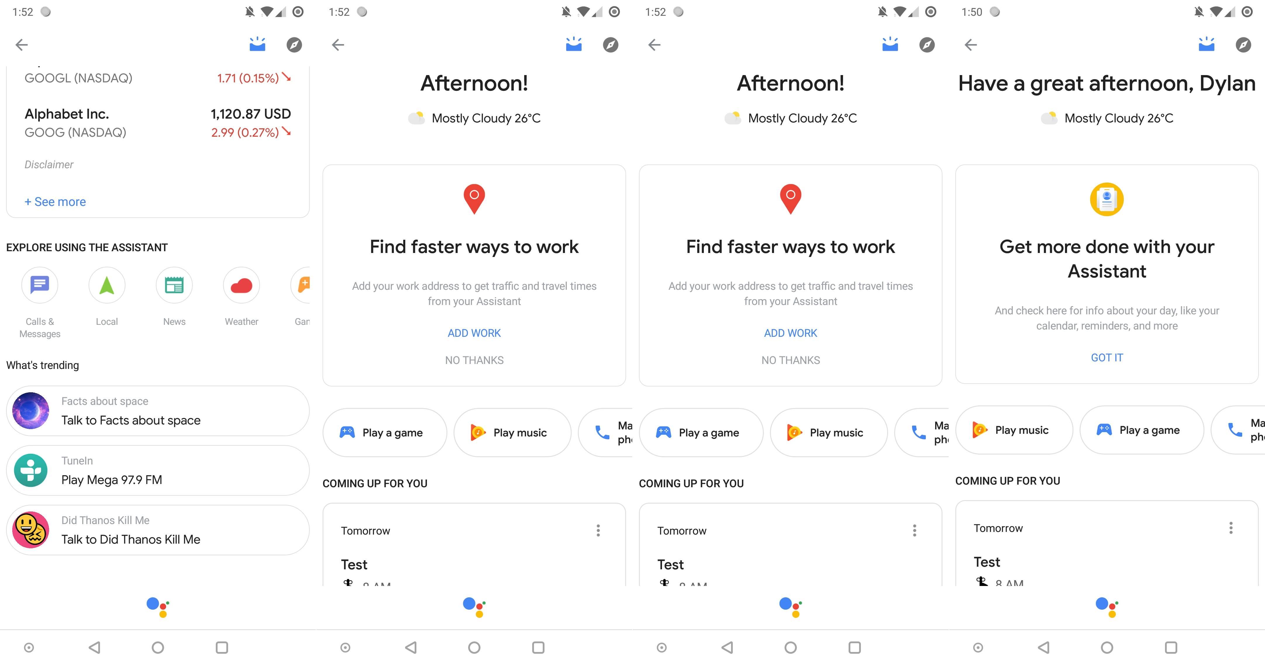 Google Assistant ARATA NOUL Design 1