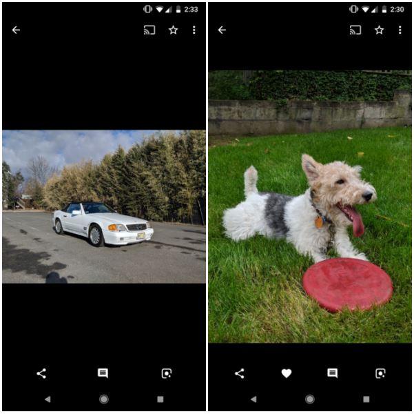 Google Photos LANSAT NOUA Functie 1