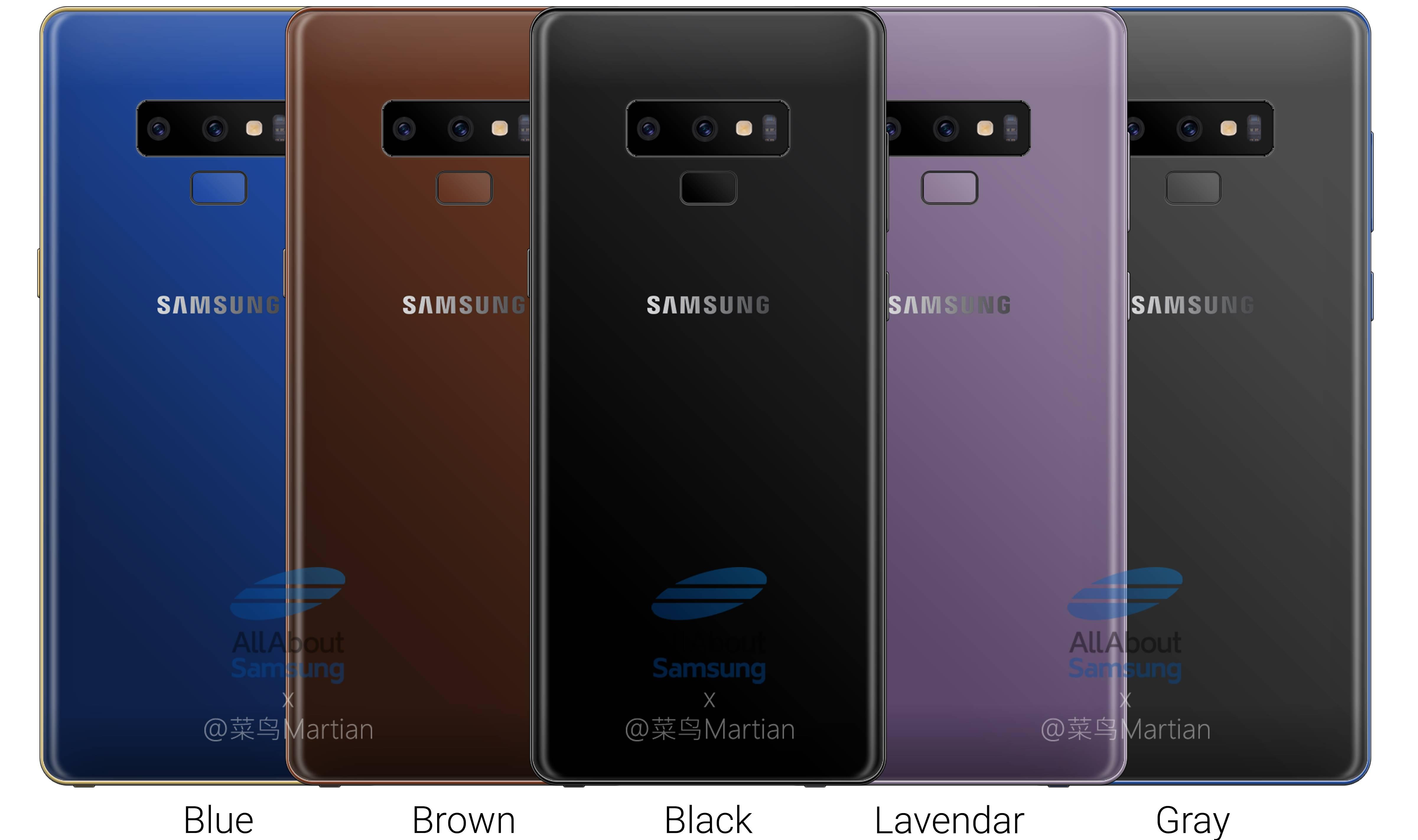 Samsung GALAXY Note 9 LANSAREA Culori 1