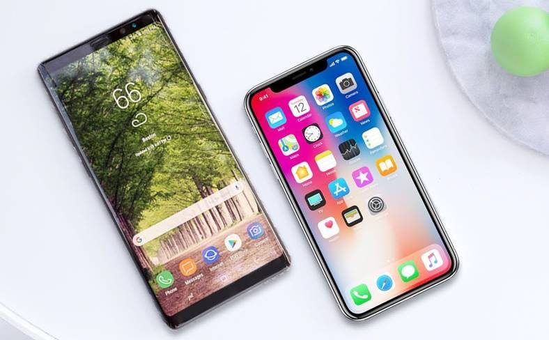 Samsung Galaxy Note 9 iPhone X Plus Comparatie Design