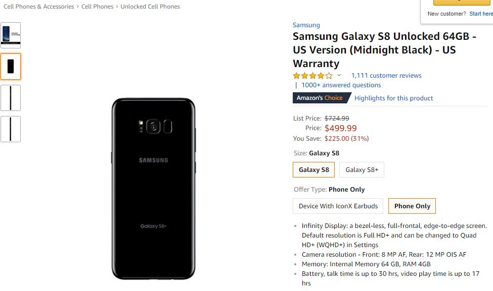 Samsung Galaxy S8 REDUCERI URIASE Oferite Samsung 1