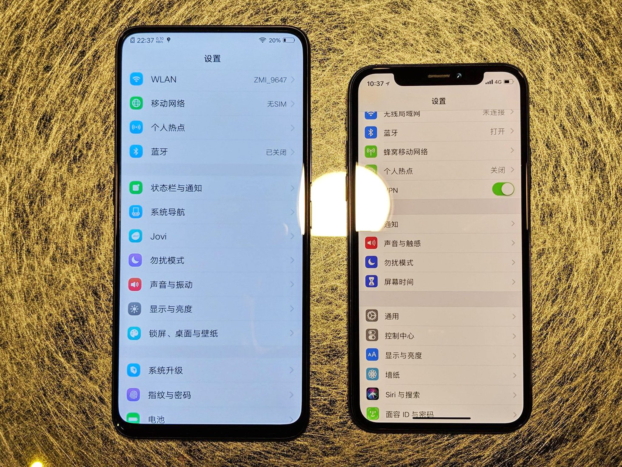 Vivo NEX iPhone X Comparatia Arata PIERZI 1