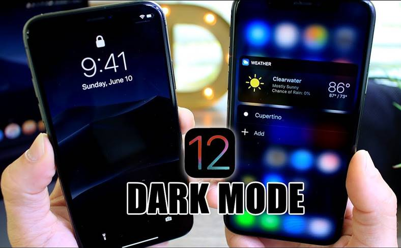 iOS 12 Noul DARK MODE