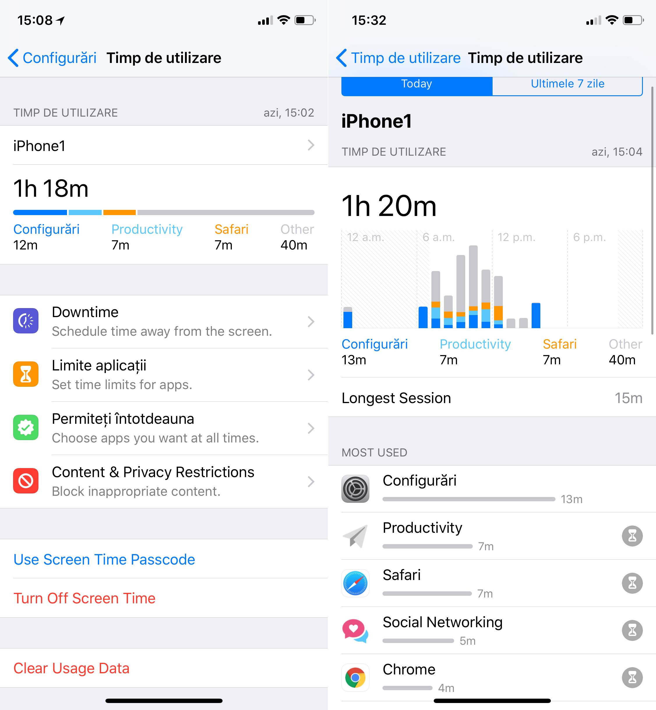 iOS 12 Screen Time Scapa Dependenta iPhone 1