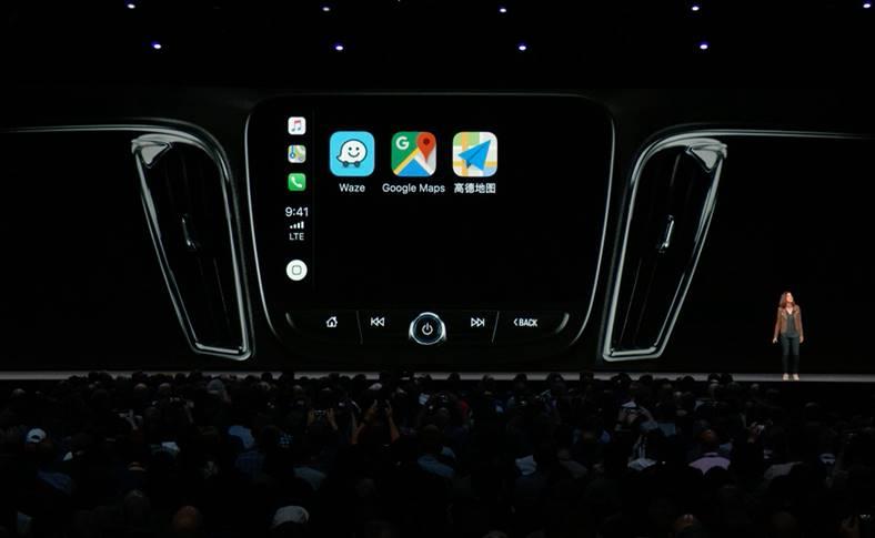 iOS 12 carplay waze google maps