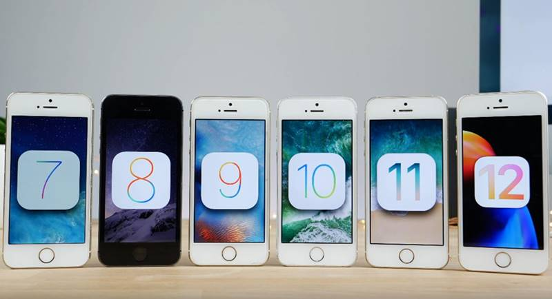 iPhone 5S Comparatia Performantelor iOS 6 iOS 11