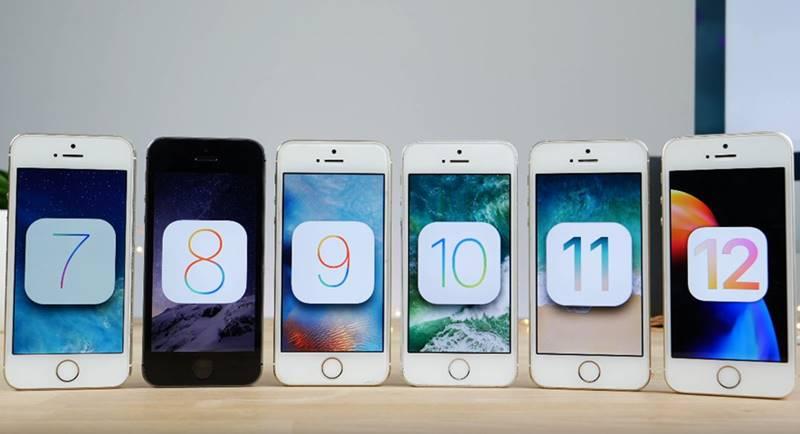 iPhone 5S Comparatia Performantelor iOS 6 iOS 11