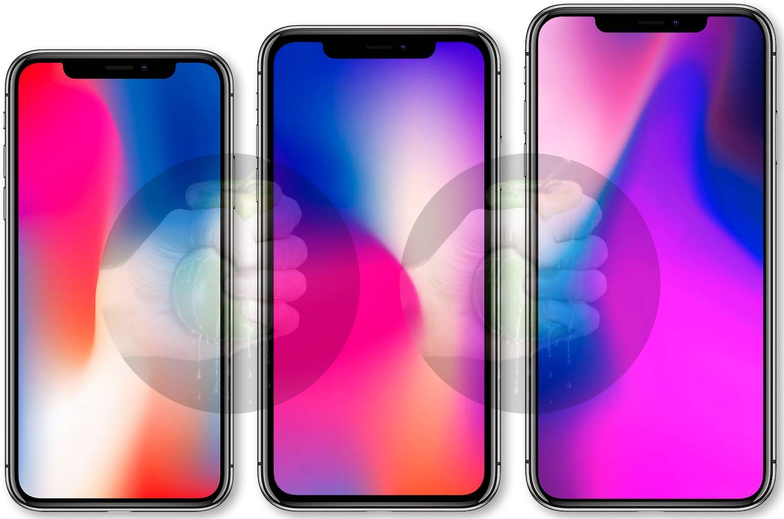 iPhone 9, iPhone X 2018 si iPhone X Plus design