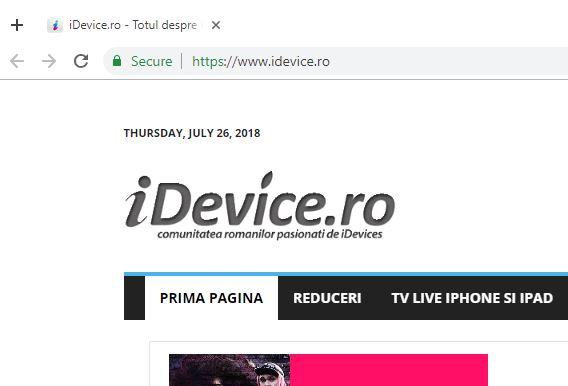 Google Chrome ACTIVEAZA TARE Functie 2018 1