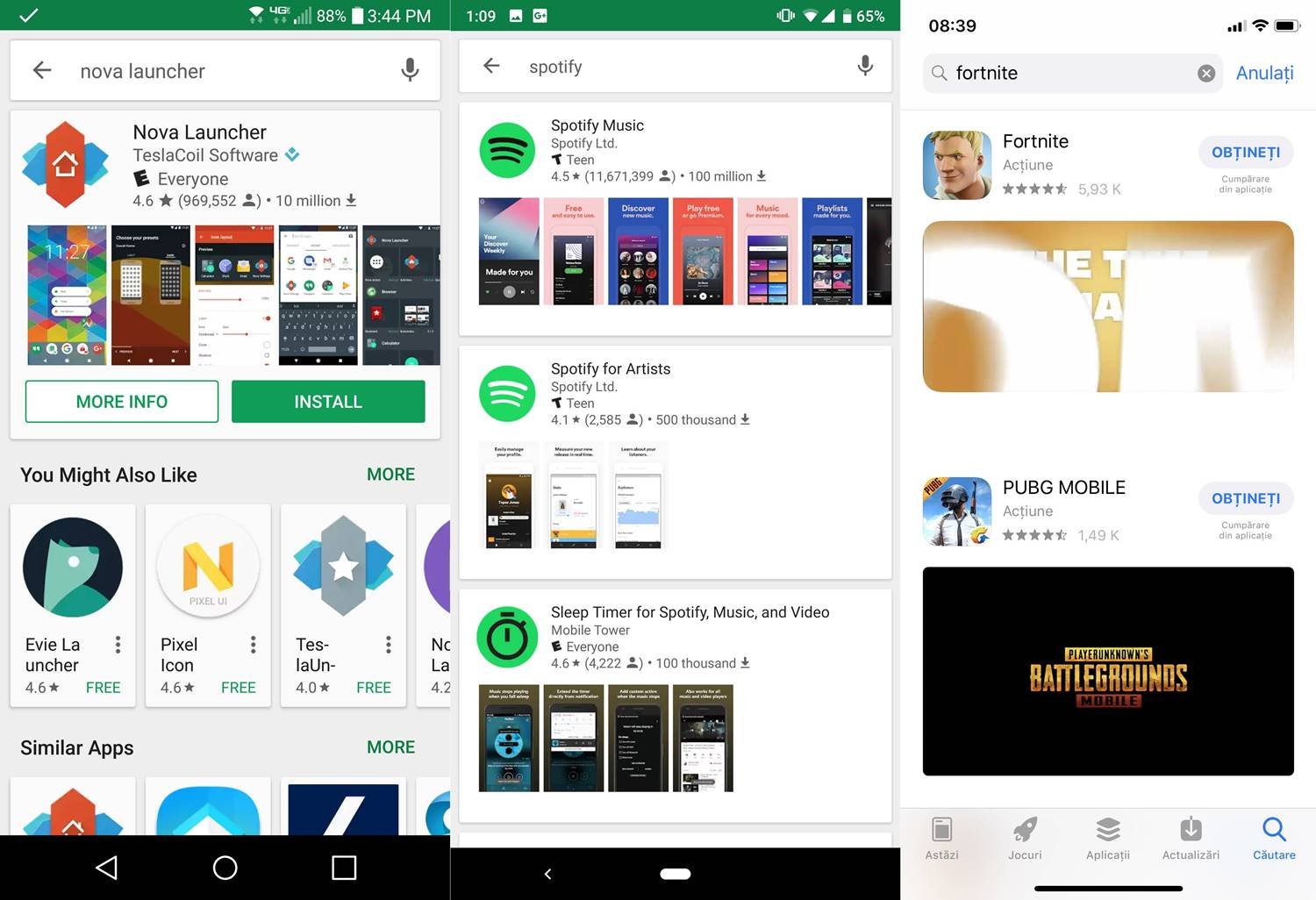Google Play Interfata NOUA Inspirata App Store 1