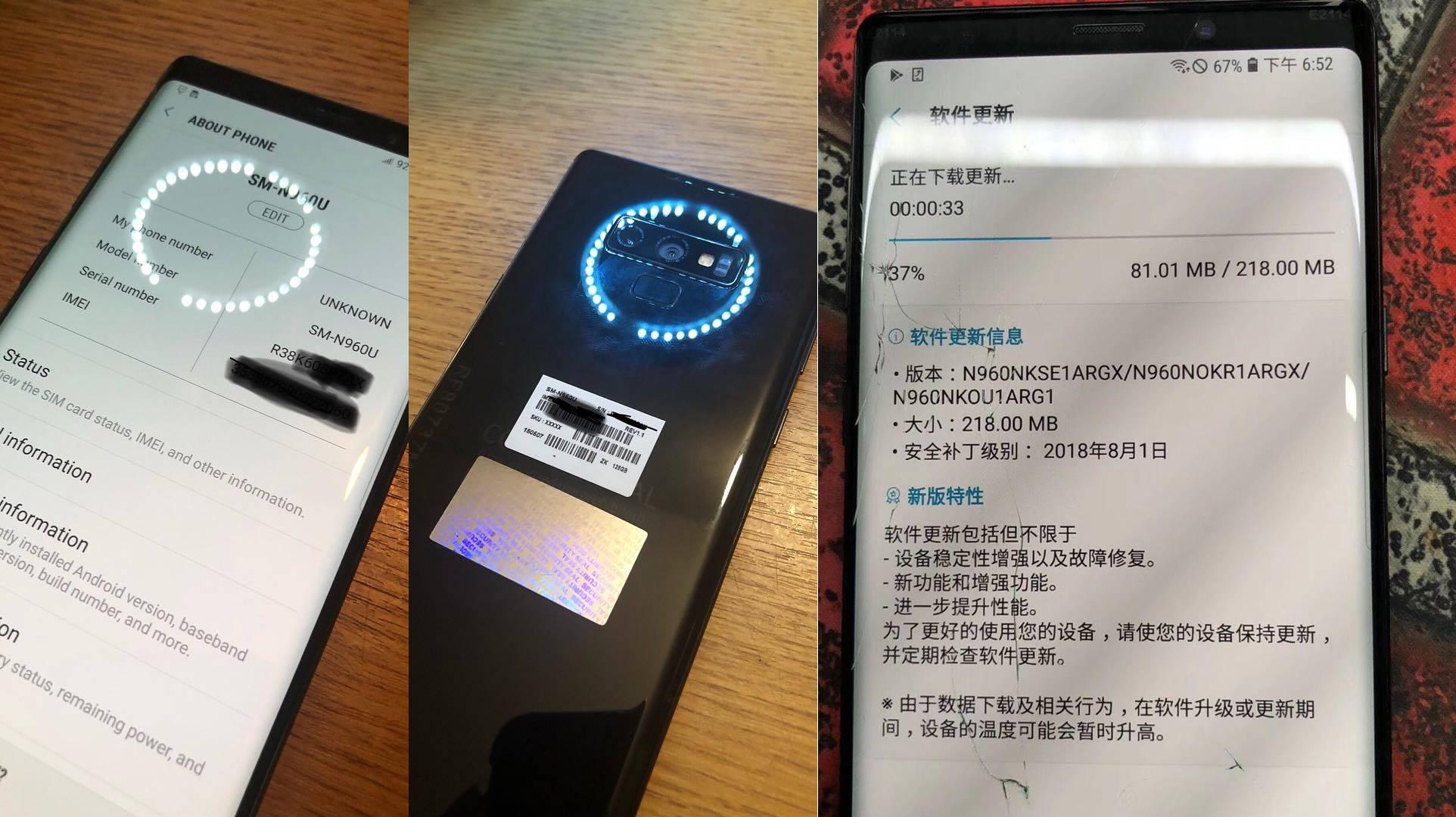 Samsung GALAXY Note 9 UNITATE REALA Imagini 1