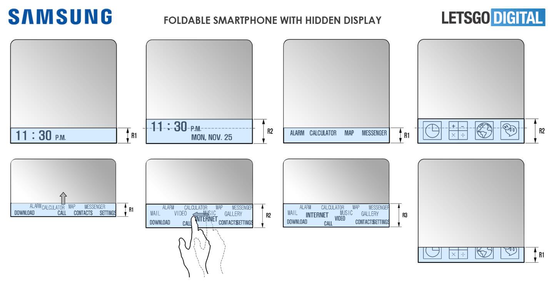 Samsung GALAXY X Ecranul ASCUNS Telefon Pliabil 2
