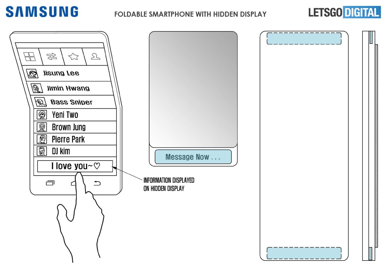 Samsung GALAXY X Ecranul ASCUNS Telefon Pliabil 3