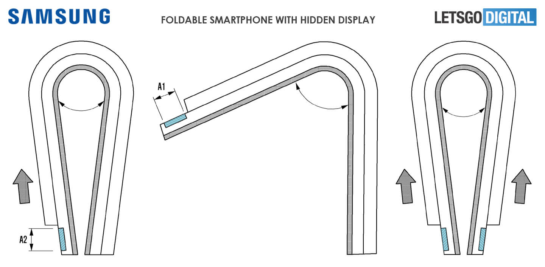 Samsung GALAXY X Ecranul ASCUNS Telefon Pliabil 4