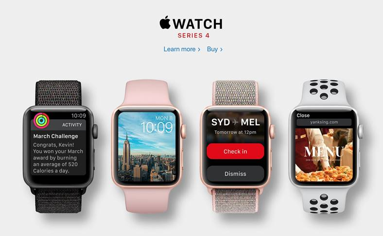 Apple Watch 4 Modele CONFIRMATE