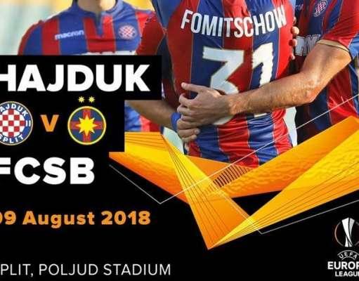 HAJDUK SPLIT - FCSB PRO TV LIVE Europa League