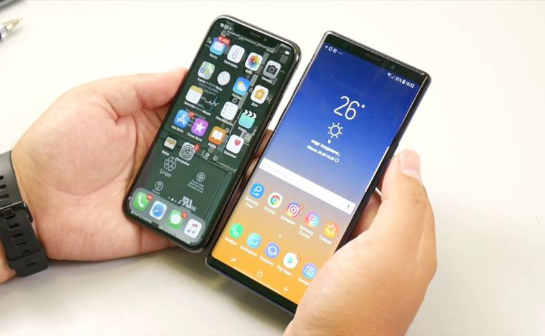 Samsung GALAXY Note 9 iPhone X Comparatii Detaliate