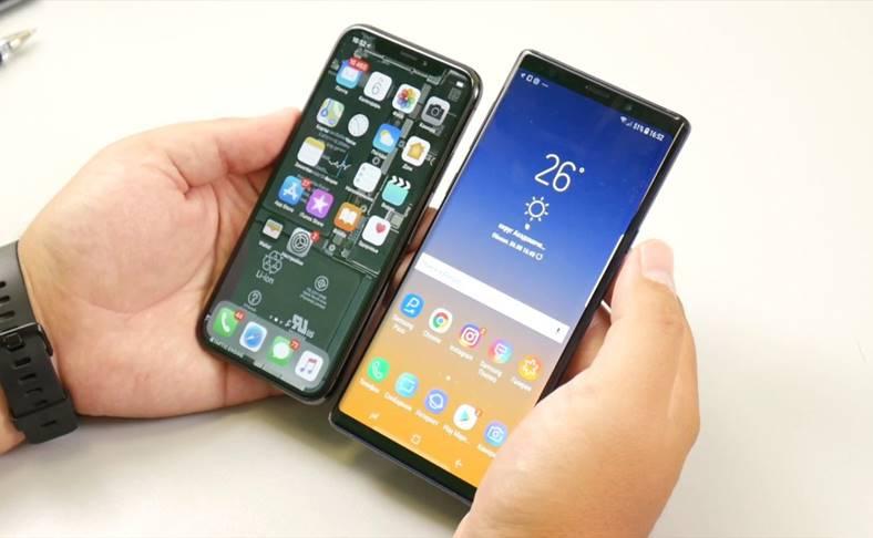Samsung GALAXY Note 9 iPhone X Comparatii Detaliate