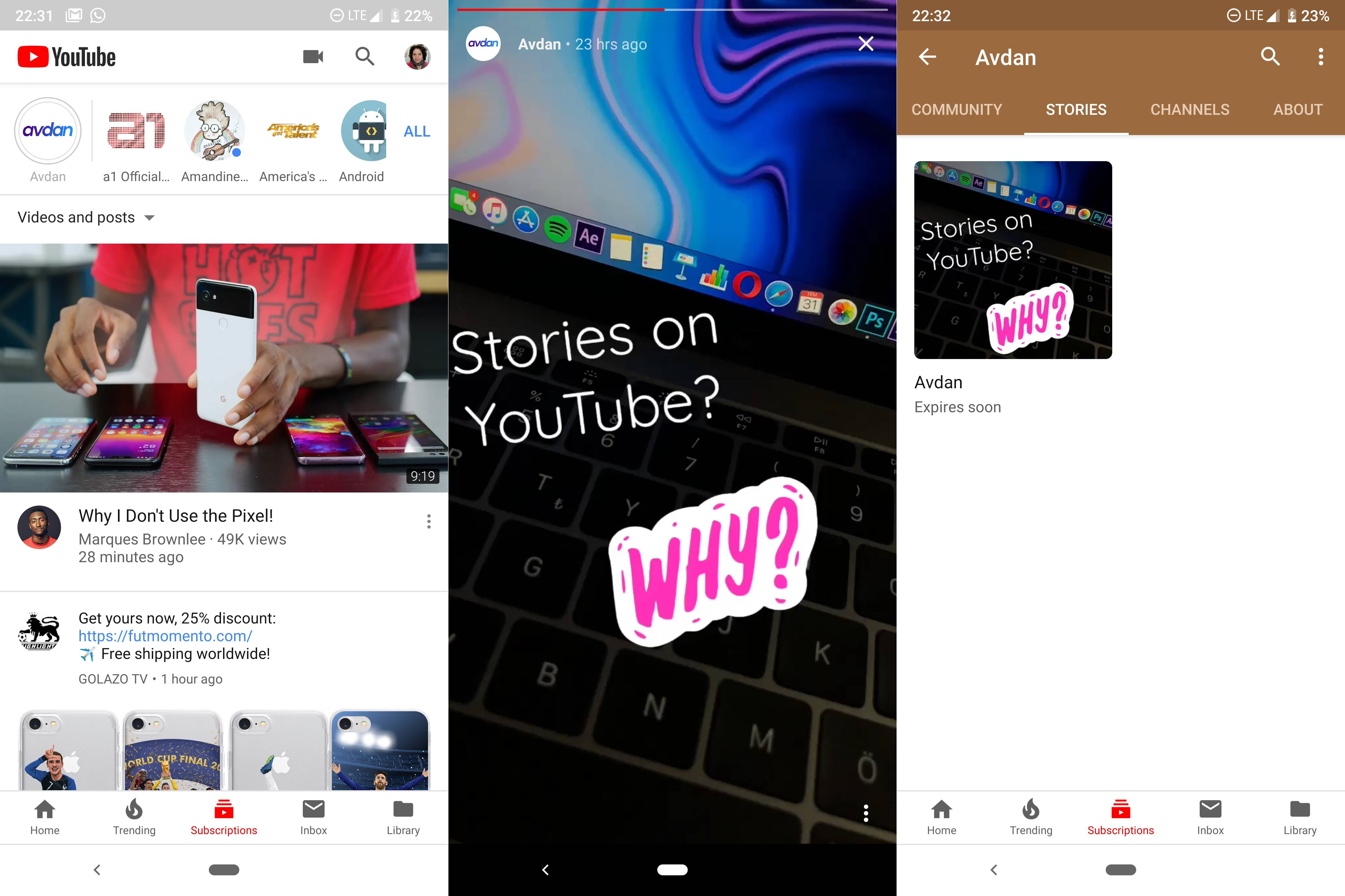 YouTube COPIAZA Functie WhatsApp Instagram 1