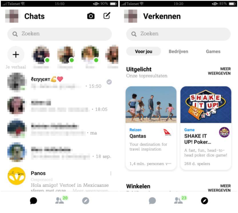 Facebook Messenger desig nou 1