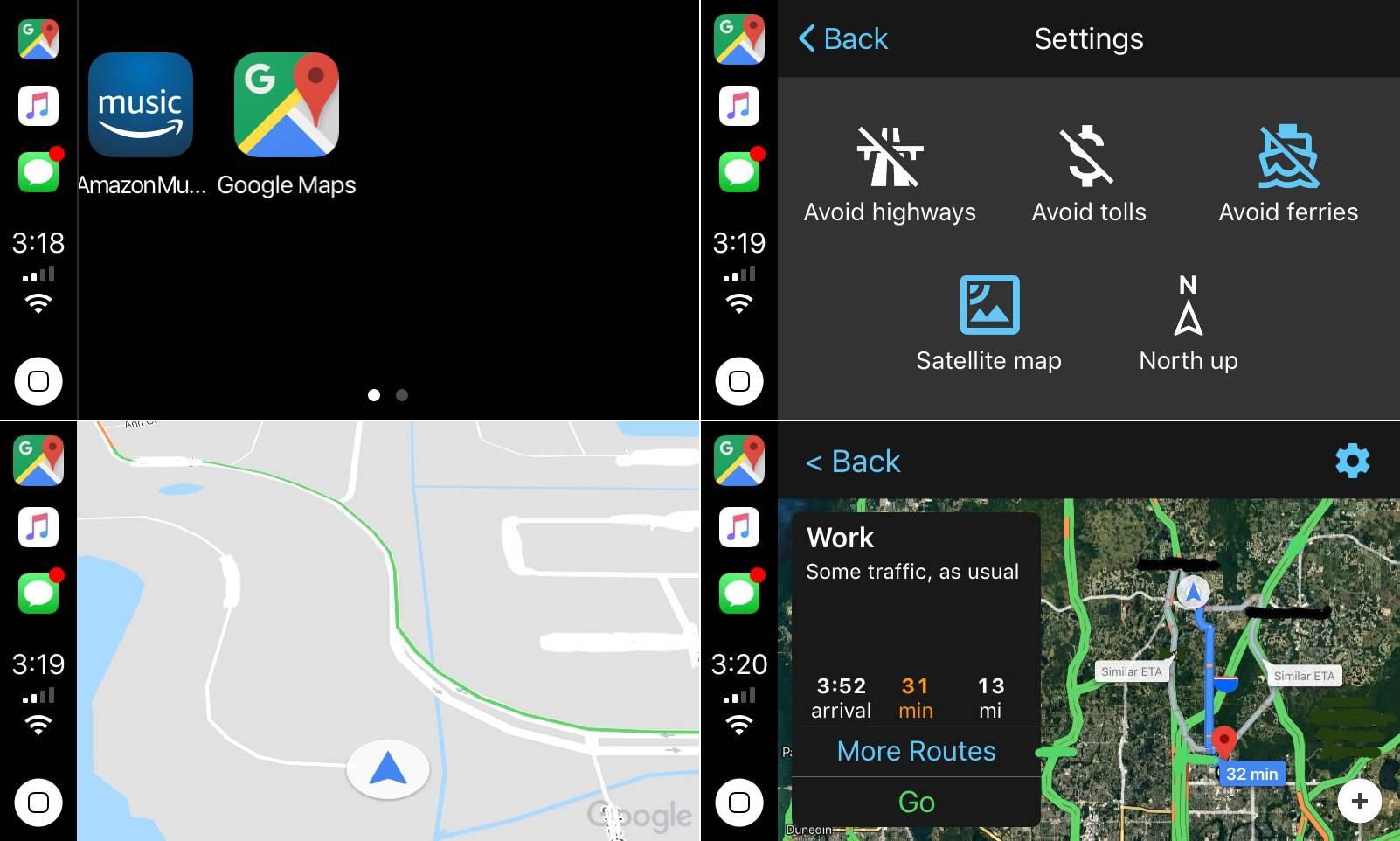 Google Maps carplay iOS 12 1
