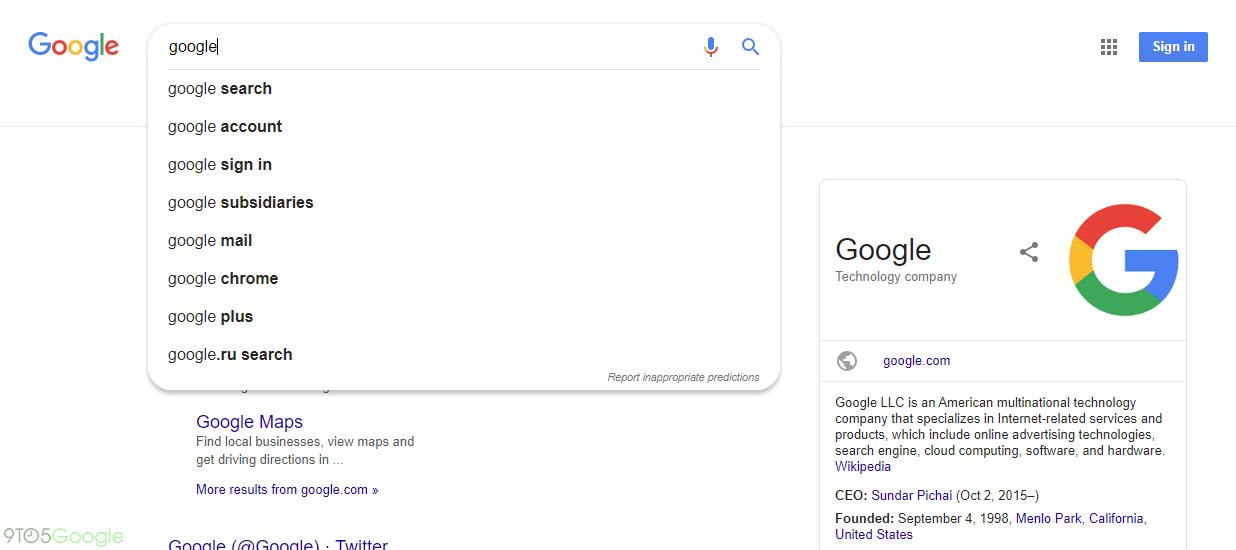 Google Search design material 2