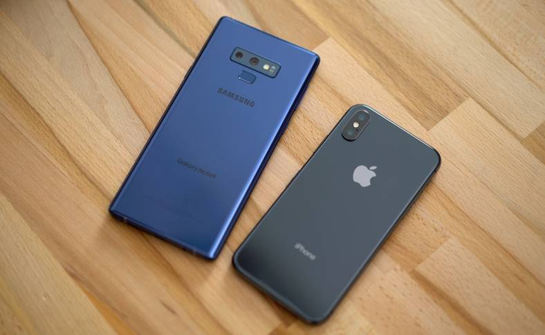 Samsung GALAXY Note 9 OnePlus 6 iPhone XS Performante