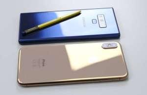 Samsung GALAXY Note 9 iphone xs camera