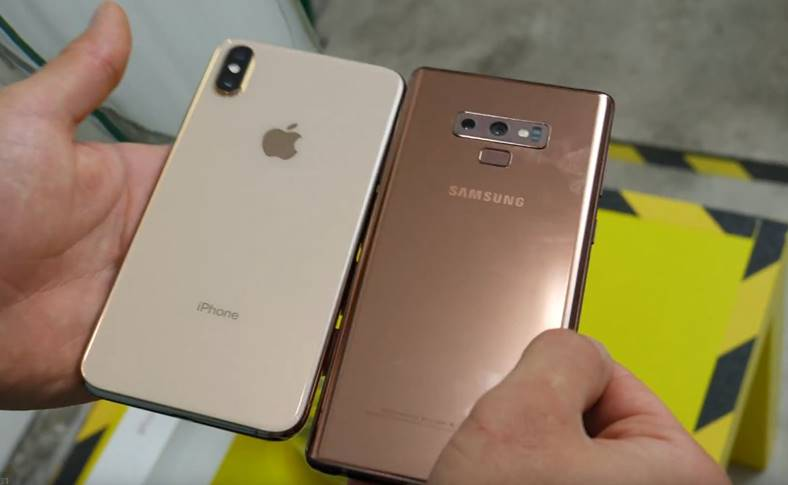 Samsung GALAXY Note 9 rezistent iphone xs max